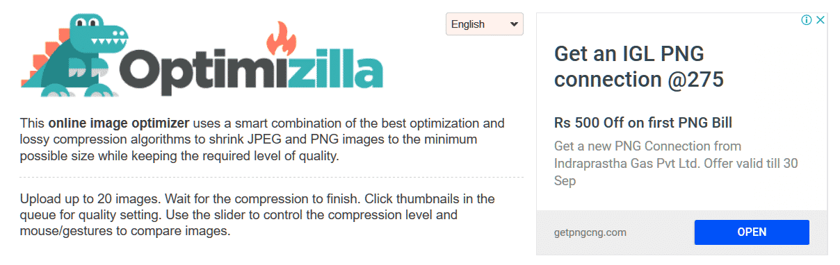 optimizilla is one of the best Free Online Image Compression Tools