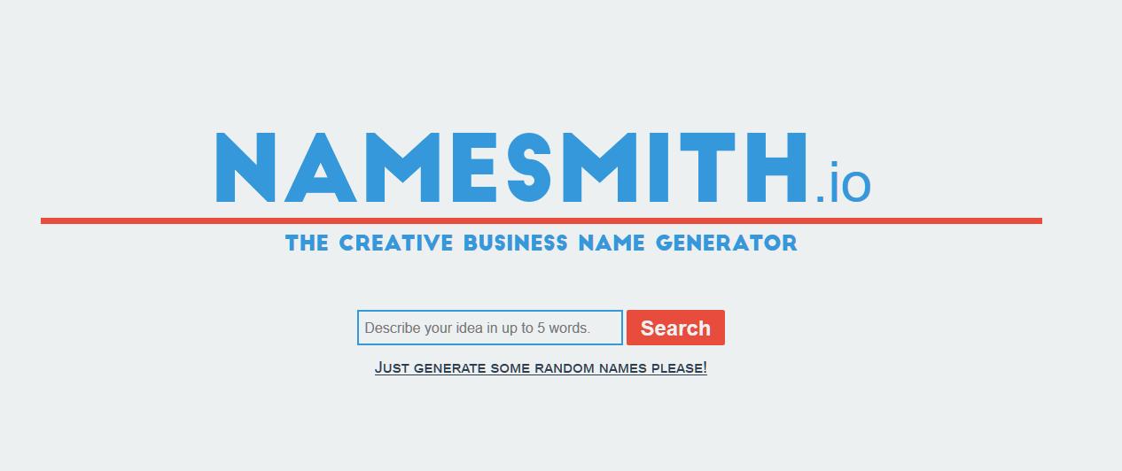 Creative Business Name Generator - Namesmith