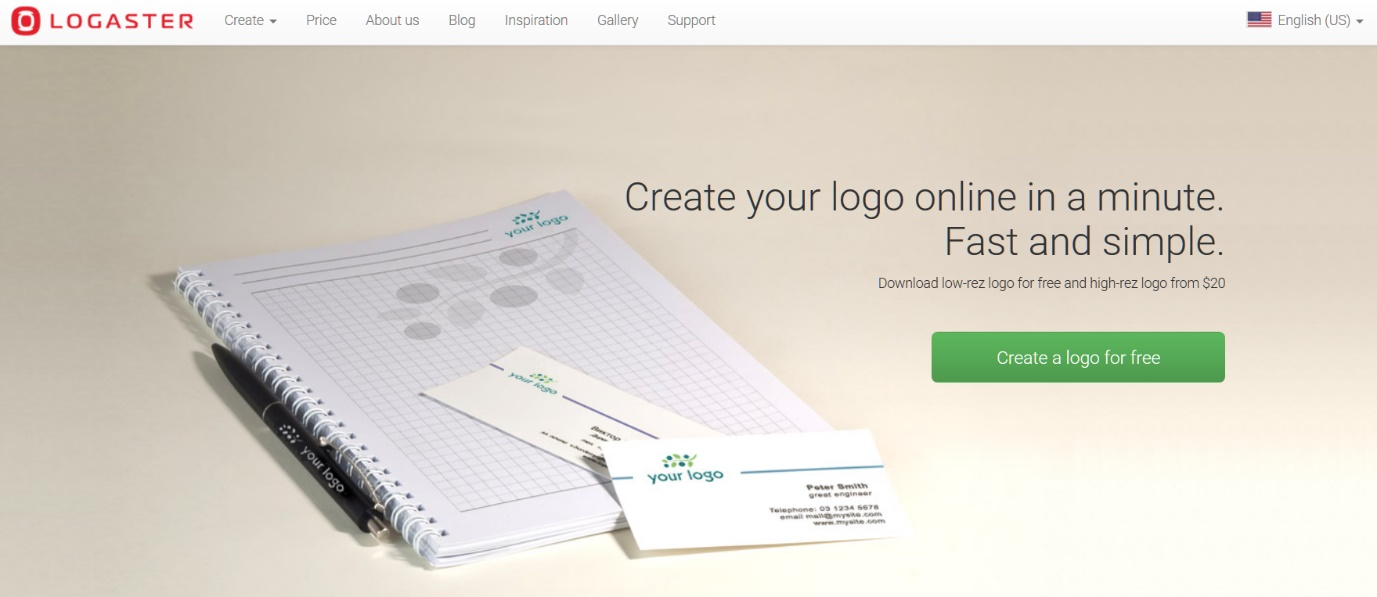 Free Logo Maker and Generator _ Online Software for Design Logo _ LOGASTER