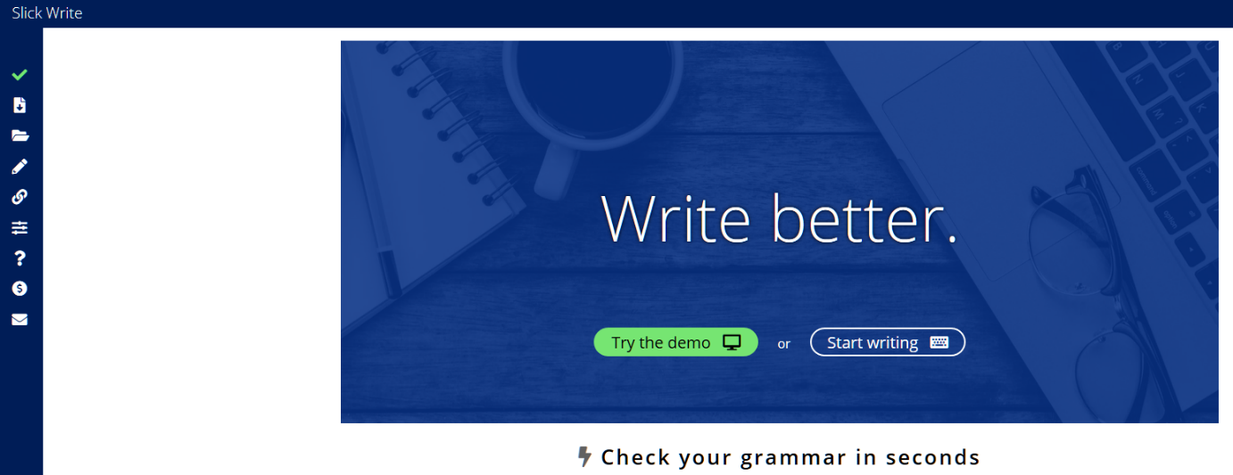 Slick Write _ Check your grammar. Proofread online