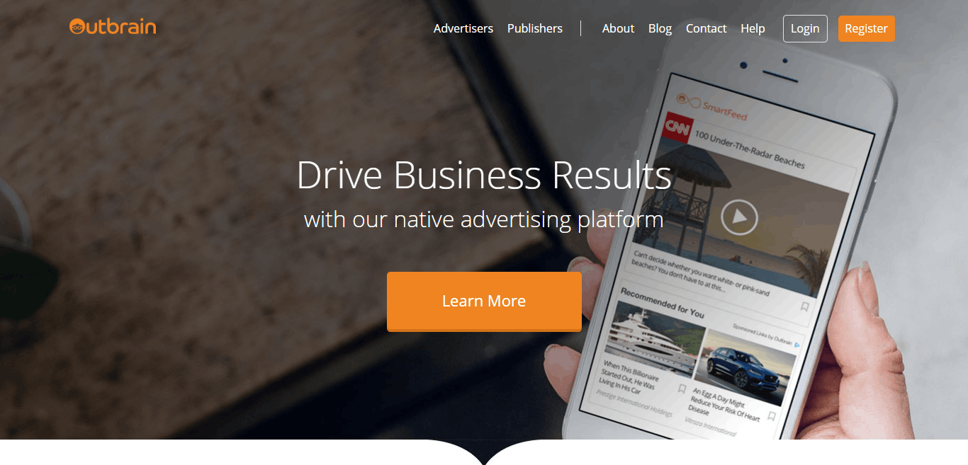Performance Based Native Advertising Platform Outbrain.com