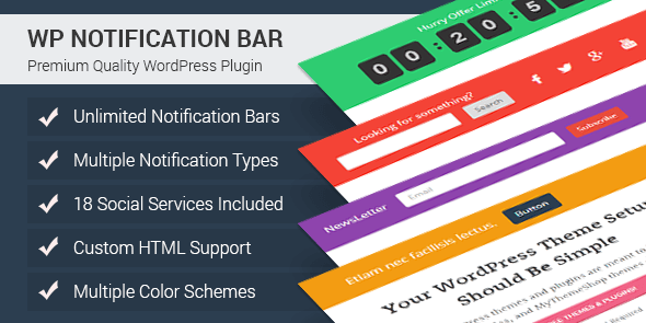 wp notification bar Custom Notifications and Alerts Plugin for WordPress
