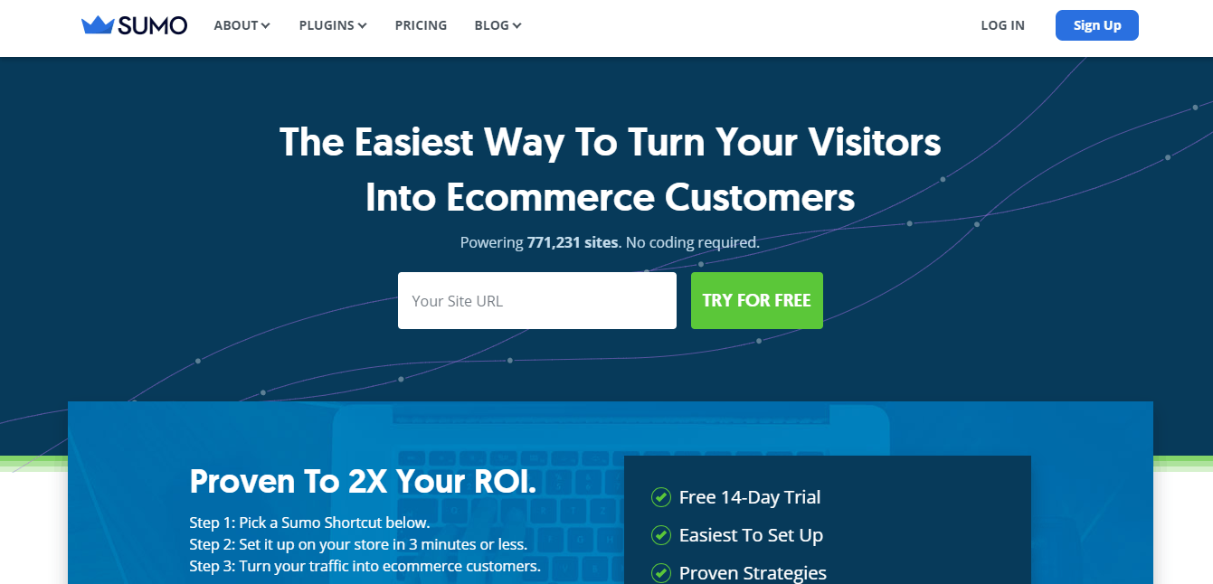 sumo The Easiest Way To Turn Your Visitors Into Customers