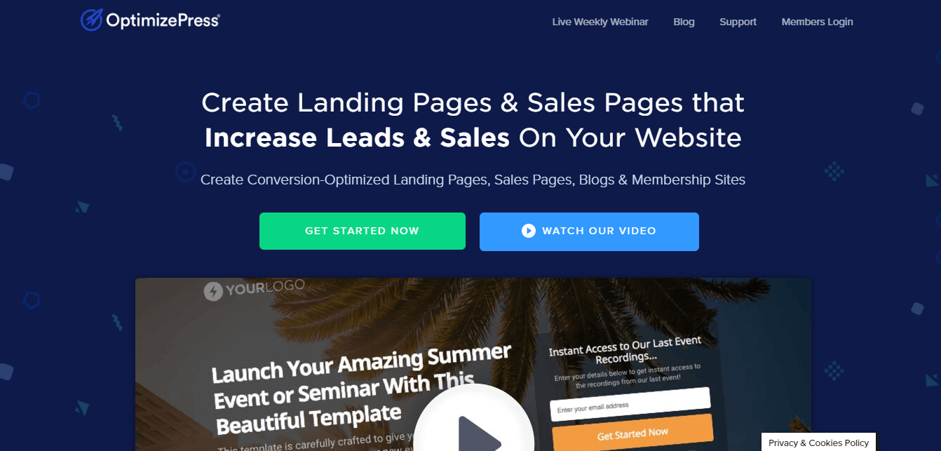 optimizepress Create Landing Pages & Sales Pages that Increase Leads & Sales On Your Website