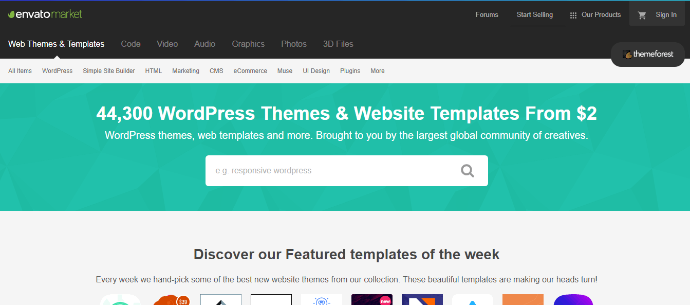 WordPress Themes & Website Templates from ThemeForest