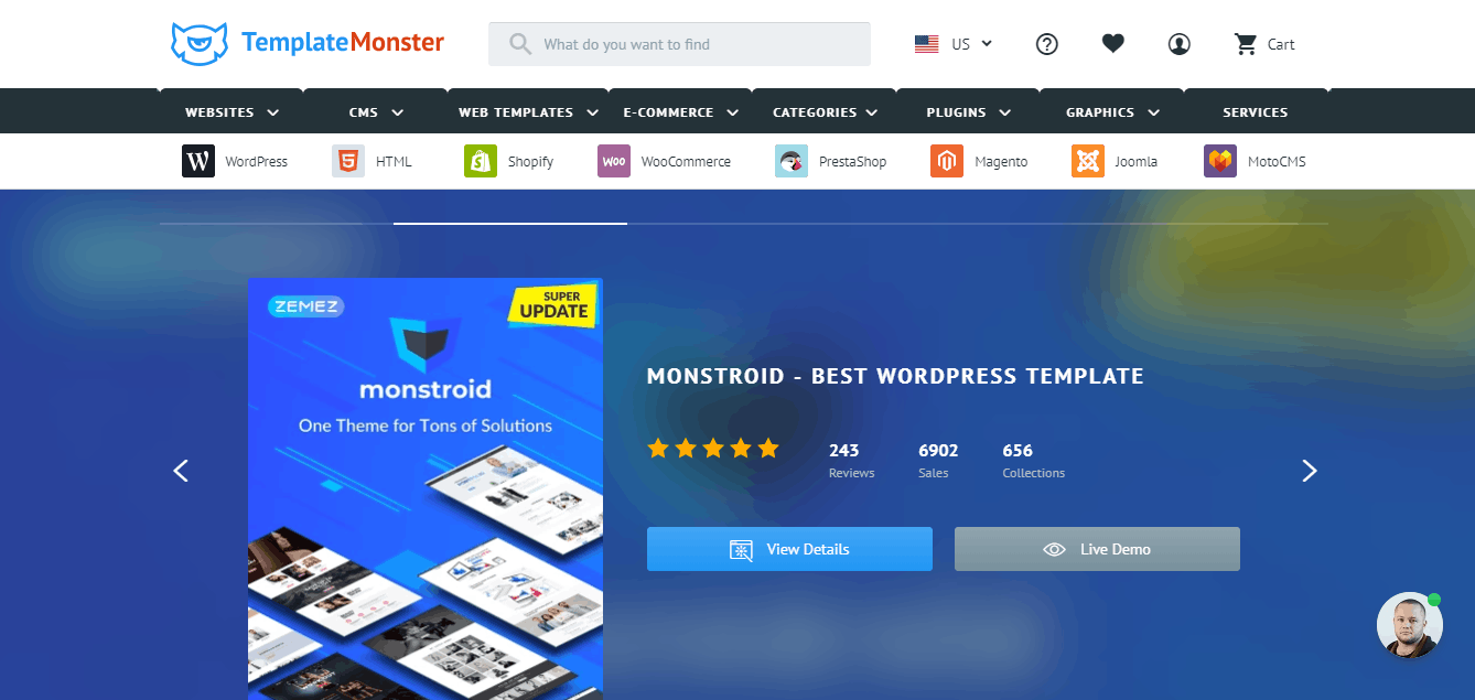 Template monster Website Templates Web Template