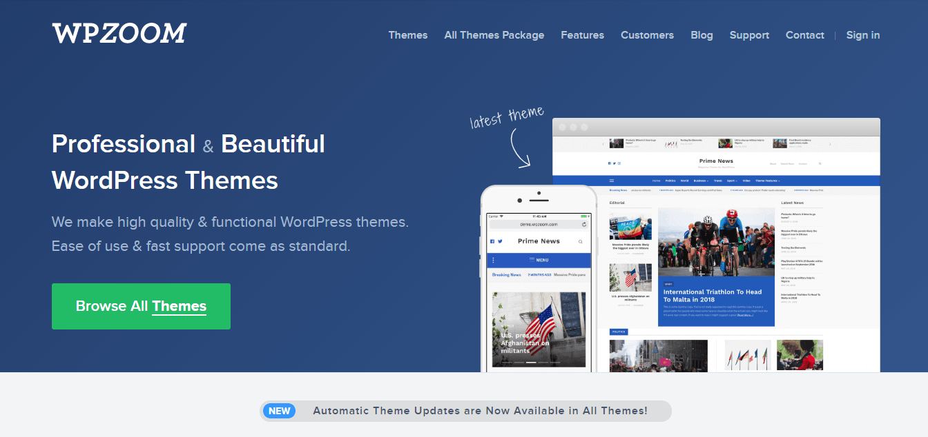 Premium WordPress Themes by WPZOOM