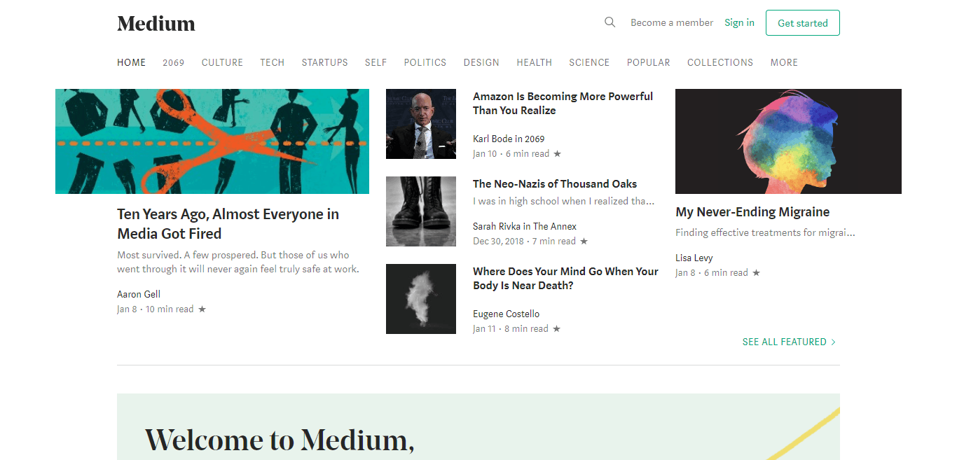 medium.com free blogging platform