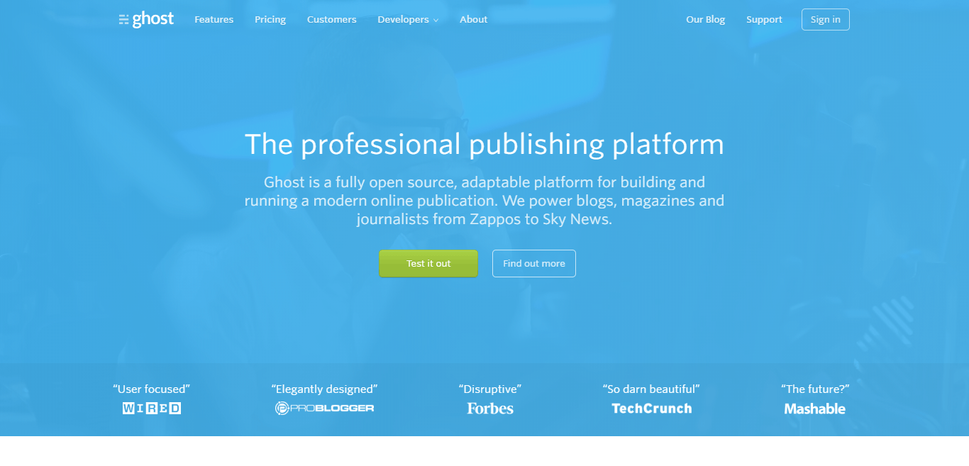 Ghost the proffessional publishing platform