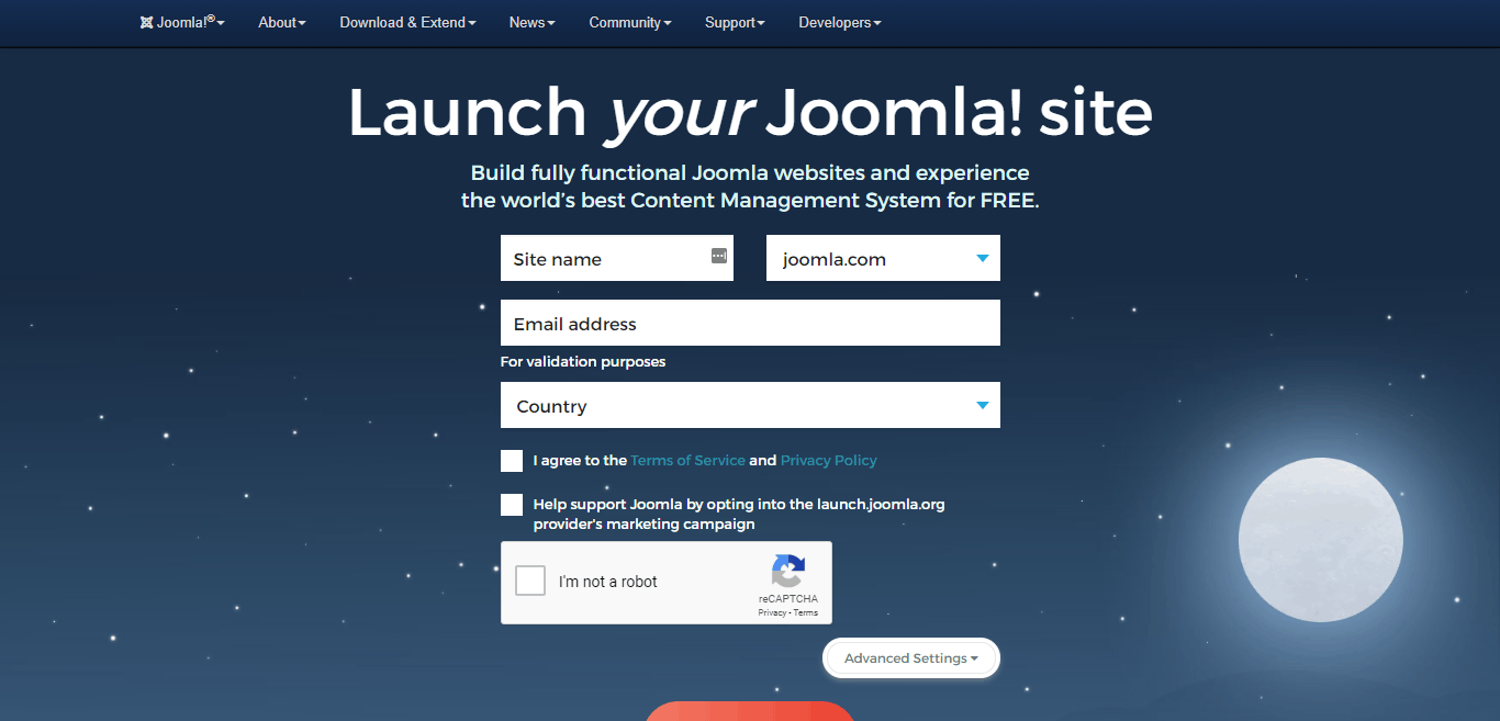 joomla.com cms based blogging platform