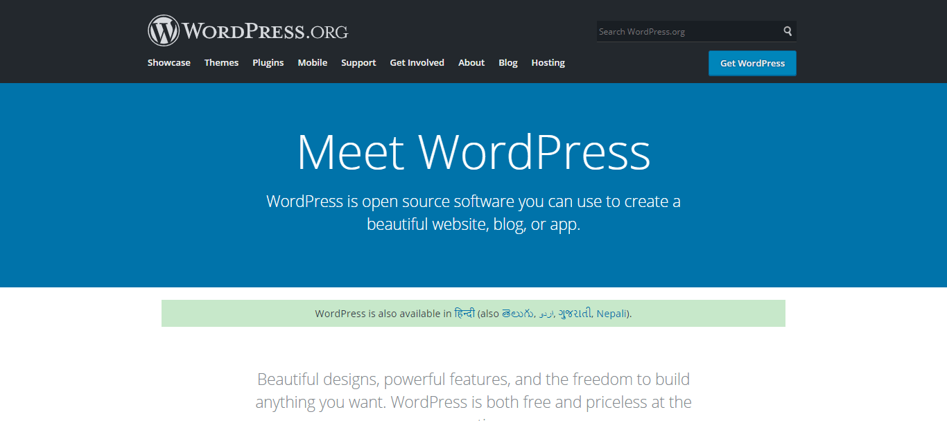 wordpress.org one of best free blogging platform