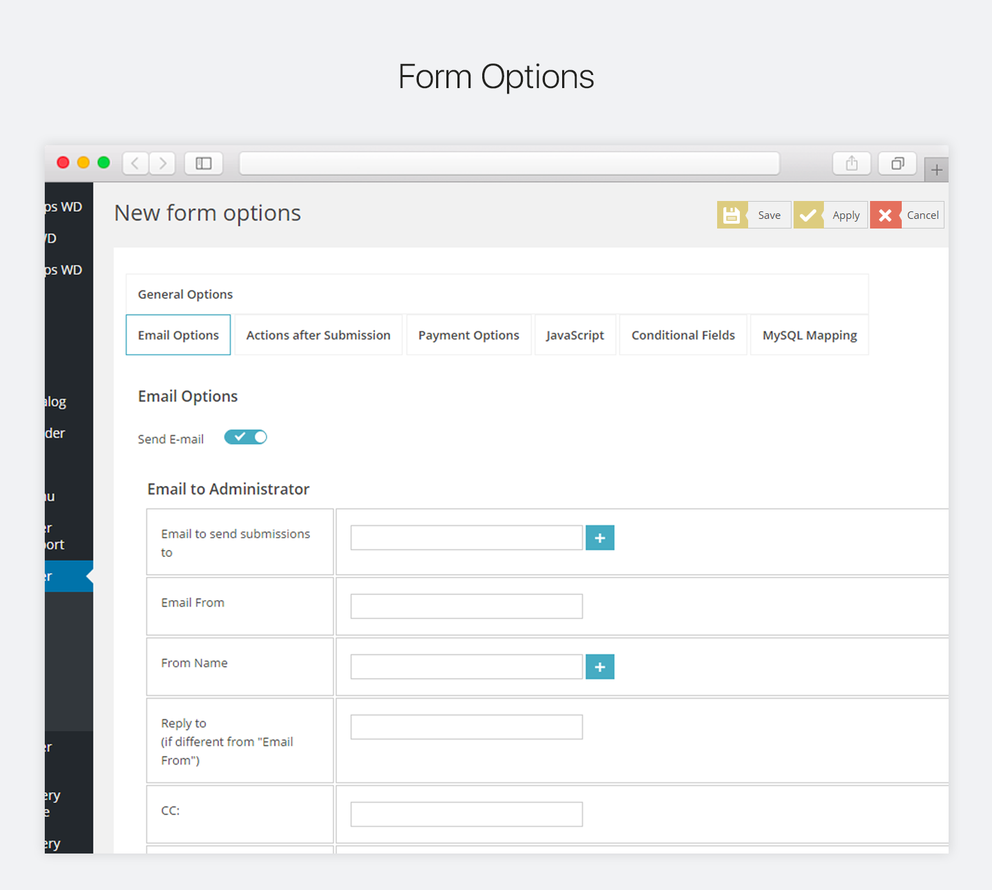 Form Maker by WD WordPress Forms Plugin
