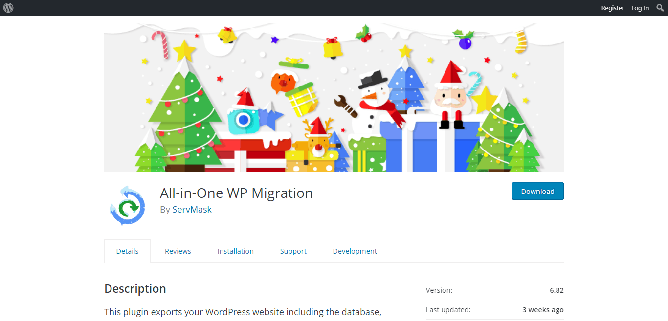All in one WP Migration- WordPress Migration Plugin