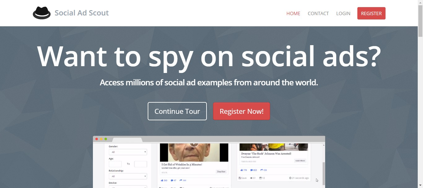 social ad scout facebook ad spy tool
