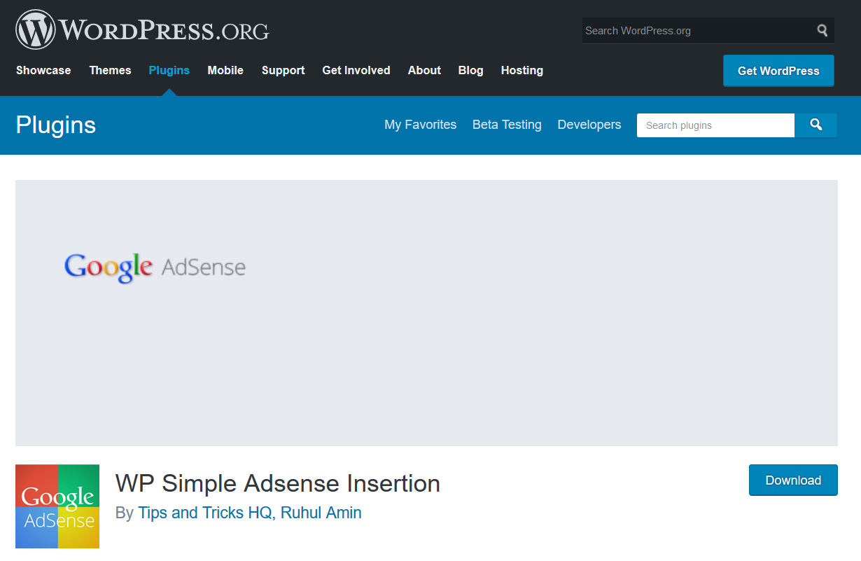 WP Simple Adsense Insertion