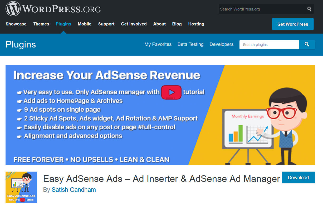 Easy Adsense Ads- ad inserter & adsense ad manager
