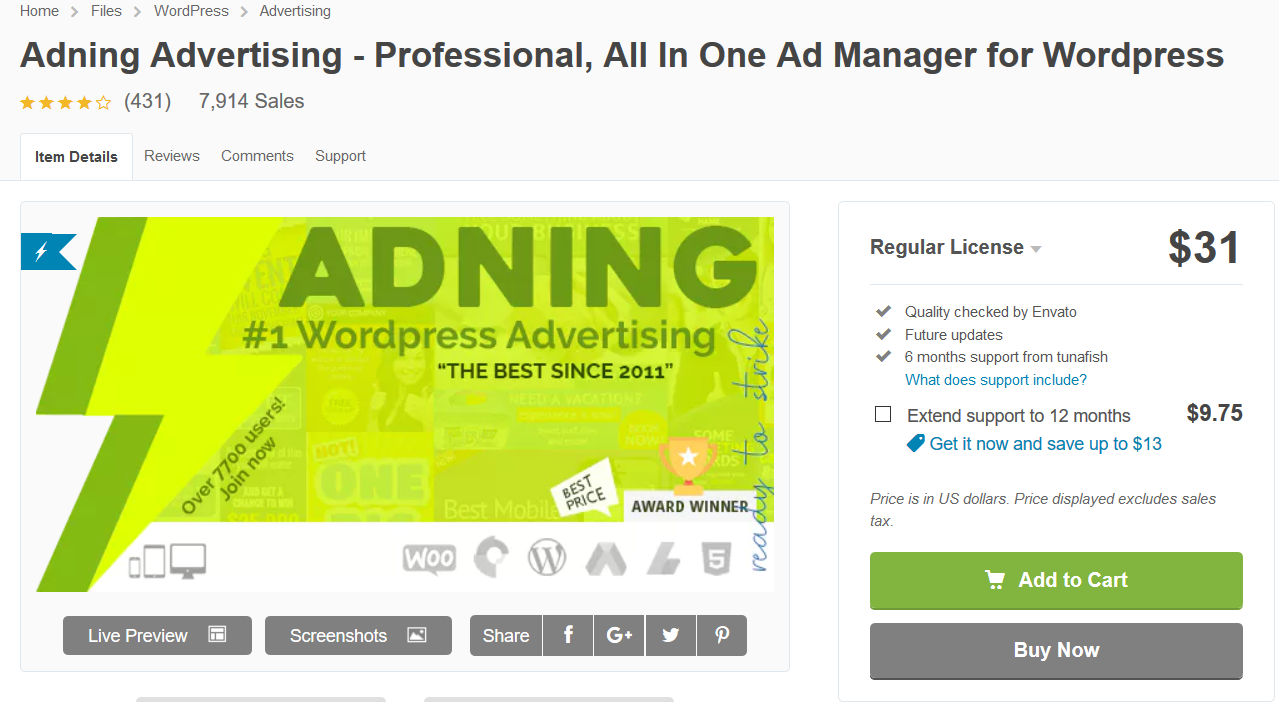 adning advertising- professional, all in one ad manager for wordpress