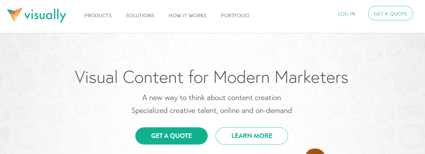 Visually content for modern marketers
