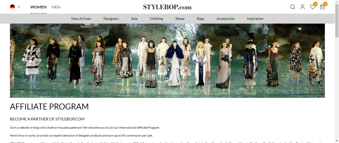 Stylebop is one of the best fashion affiliate program