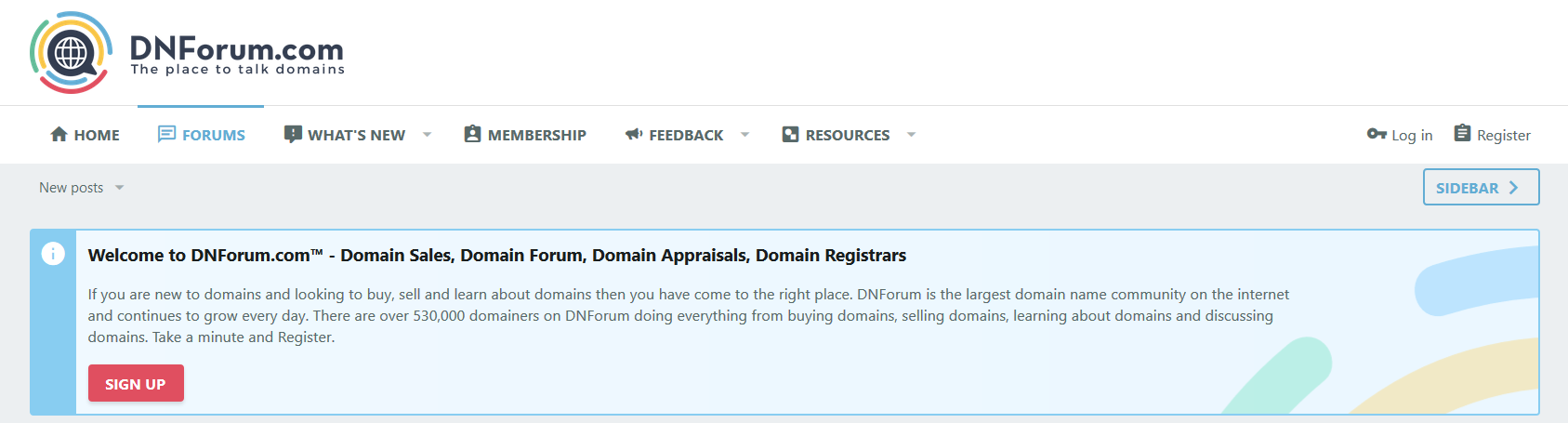 DNForum largest forum related to the domain